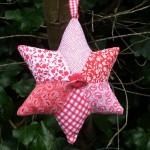 patchwork star christmas tree decoration fabric
