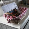 fabric lined basket