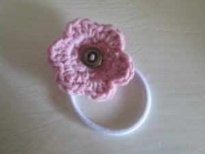 crocheted hair bobble