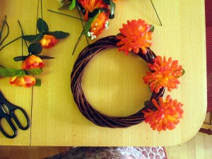 summer door wreath