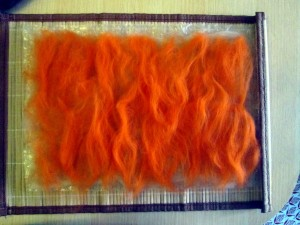 autumn felted picture