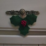 felt holly decoration