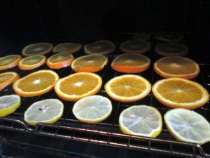 how to dry citrus fruit
