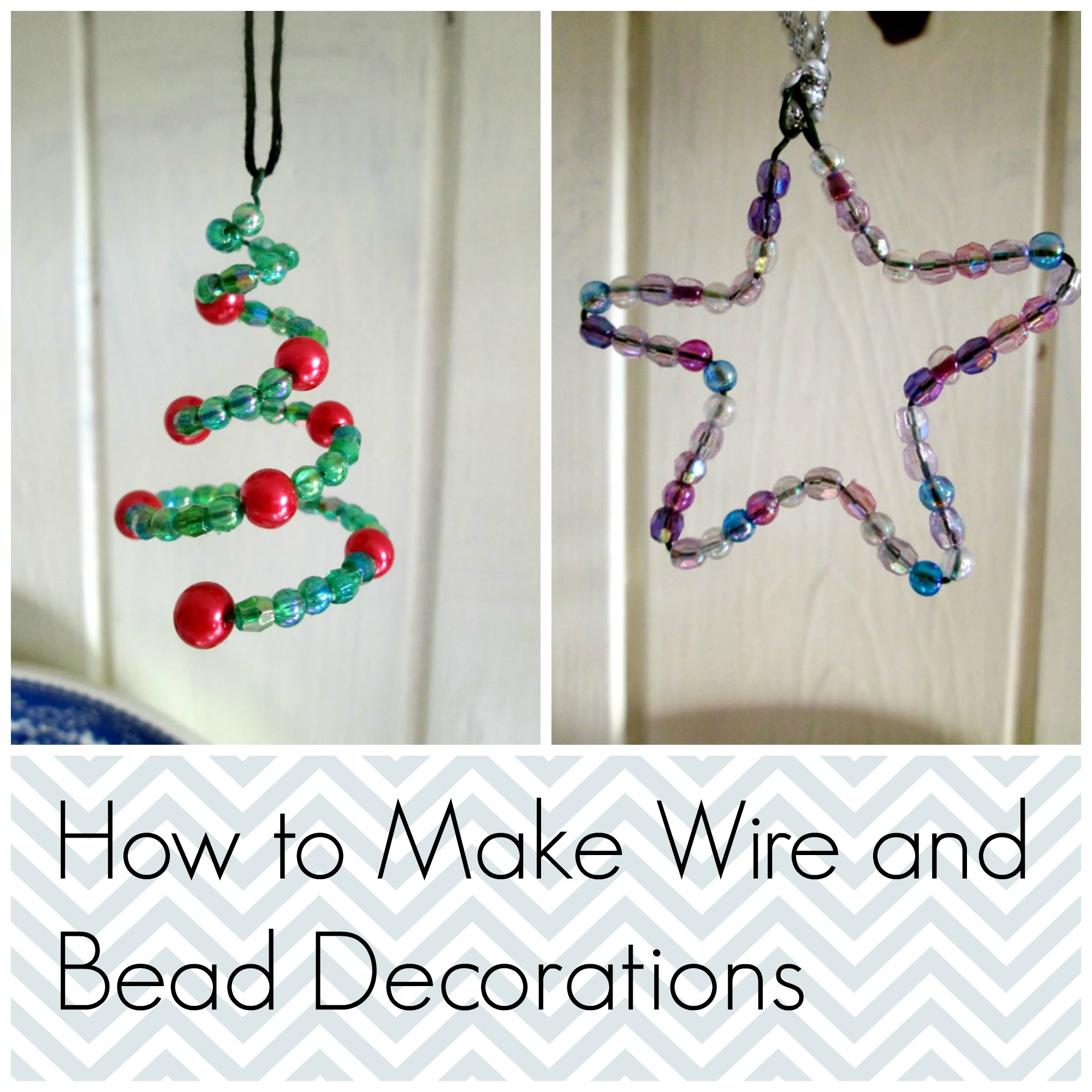 How do you make a christmas decoration - Wire And Bead Christmas Decorations Tea And A Sewing Machine