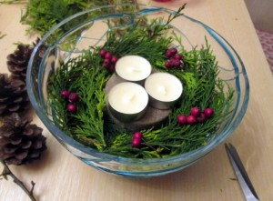 easy last minute christmas centrepieces