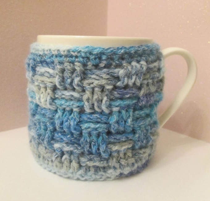 quilted mug cosy using sewing to beat the winter blues