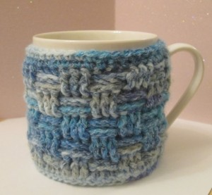quilted mug cosy crocheted mug cosy quick and easy gift ideas