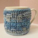 crocheted mug cosy