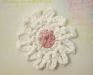 crocheted flower