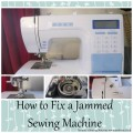 jammed sewing machine