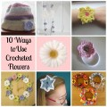 10 ways to use crocheted flowers
