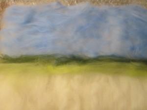felted fenland landscape