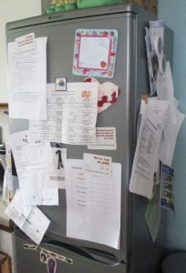 fridge notice board