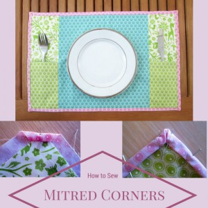 how to sew mitred corners