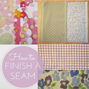 how to finish a seam