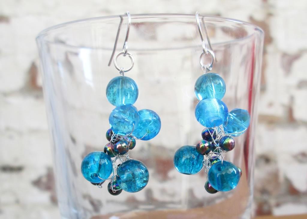 crocheted wire earrings