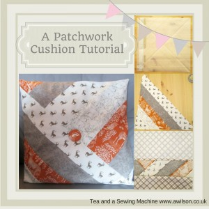 autumn patchwork cushion