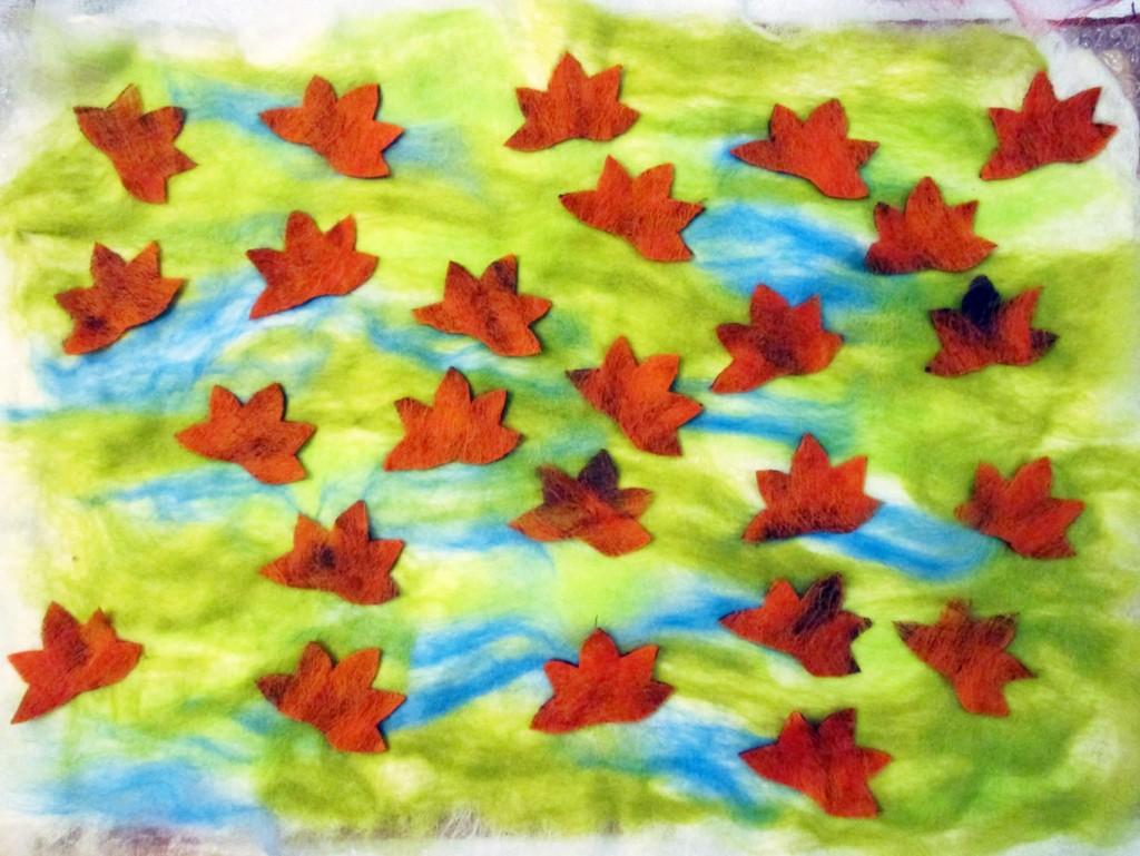 autumn felted coasters