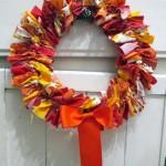 autumn tied wreath