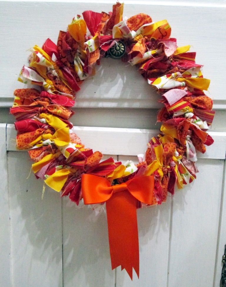 autumn tied wreath