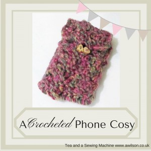 crocheted phone cosy tutorial