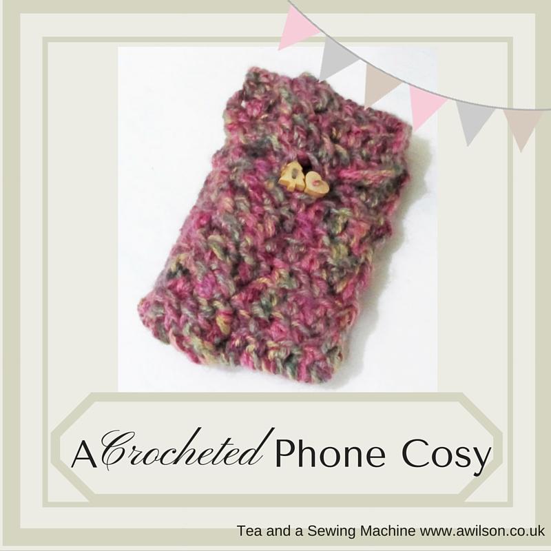 crocheted phone cosy tutorial