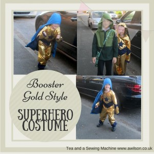 booster gold style superhero costume outfit suit