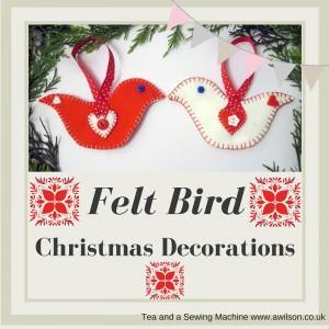 felt bird christmas decoration