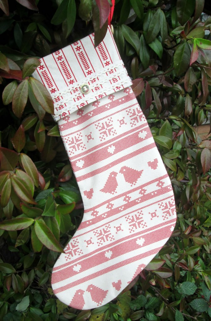 how to make a fabric stocking with cuff