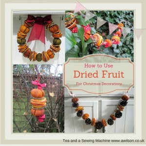 how to use dried fruit for Christmas decorations