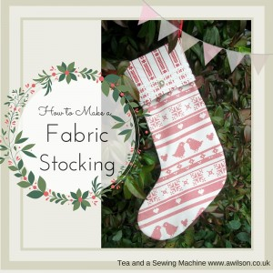 how to make a fabric stocking with a cuff