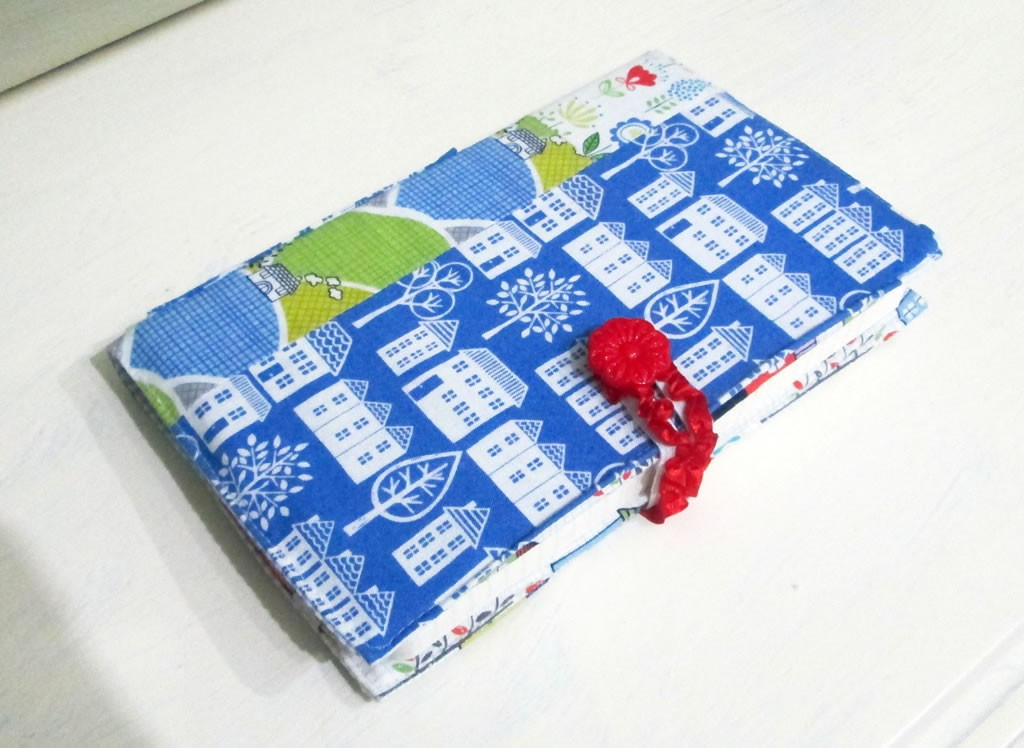 fabric diary cover notebook journal