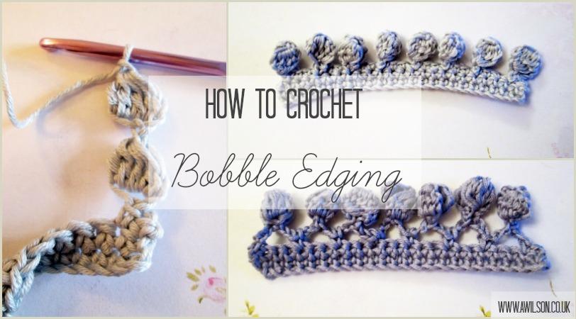 how to crochet bobble edging