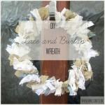 lace and burlap wreath thumb