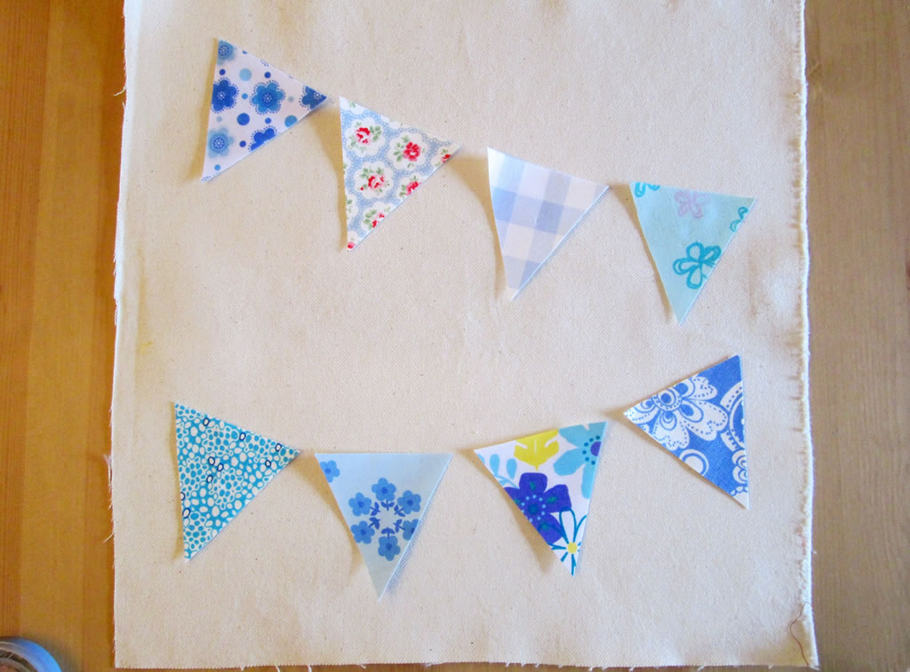 how to make a bunting cushion