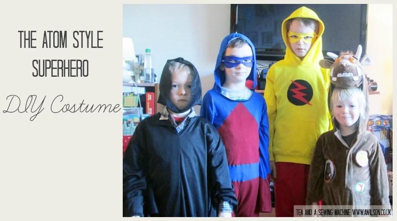 the atom superhero style diy costume