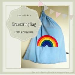 drawstring bag grid