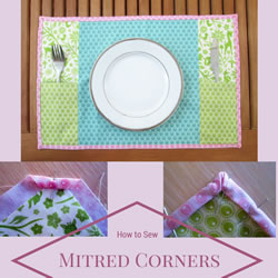 mitred corners collage