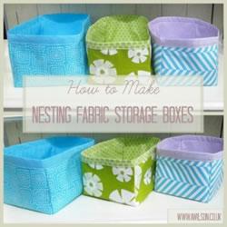 storage boxes grid