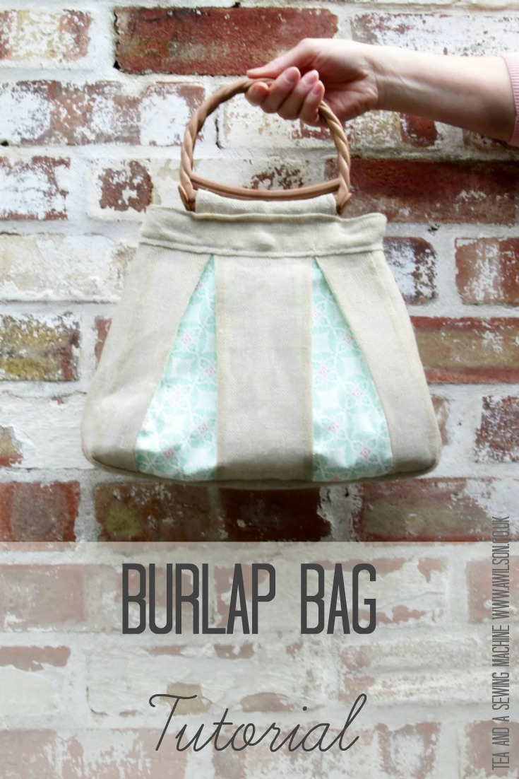 burlap bag tutorial minerva crafts bloggers network