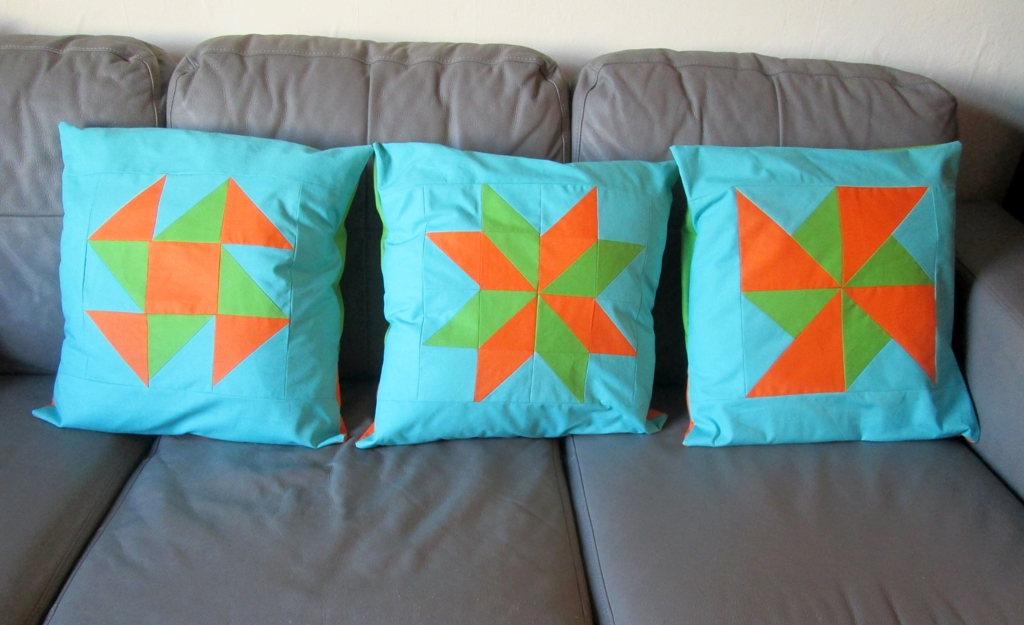 quilt block cushions tutorial