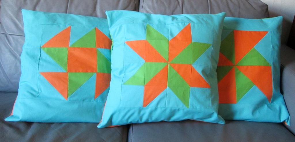quilt block cushions tutorial