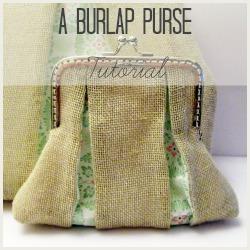 burlap purse square