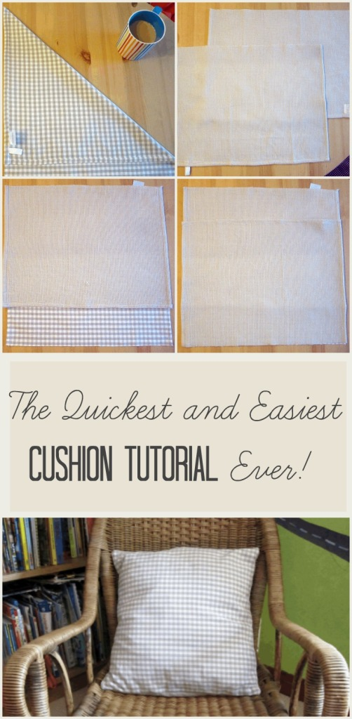 easiest quickest cheapest cushion tutorial