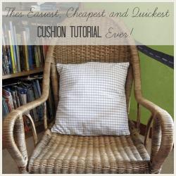 tea towel cushion square