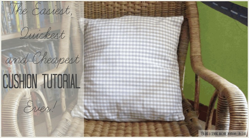 easiest cheapest quickest cushion tutorial