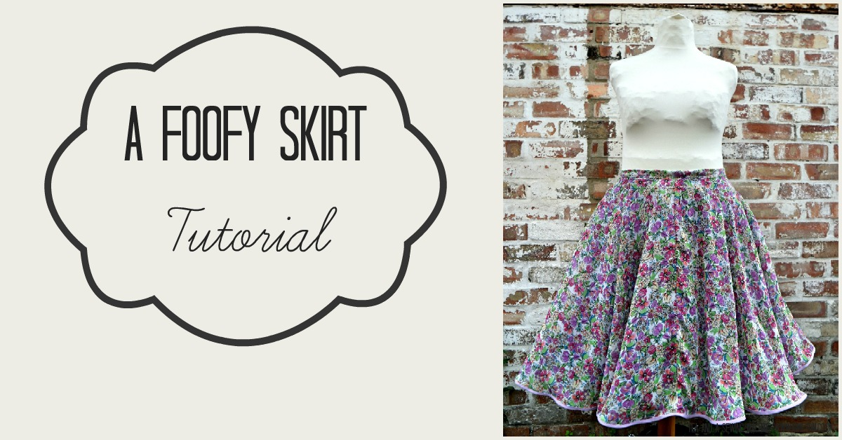 foofy skirt tutorial
