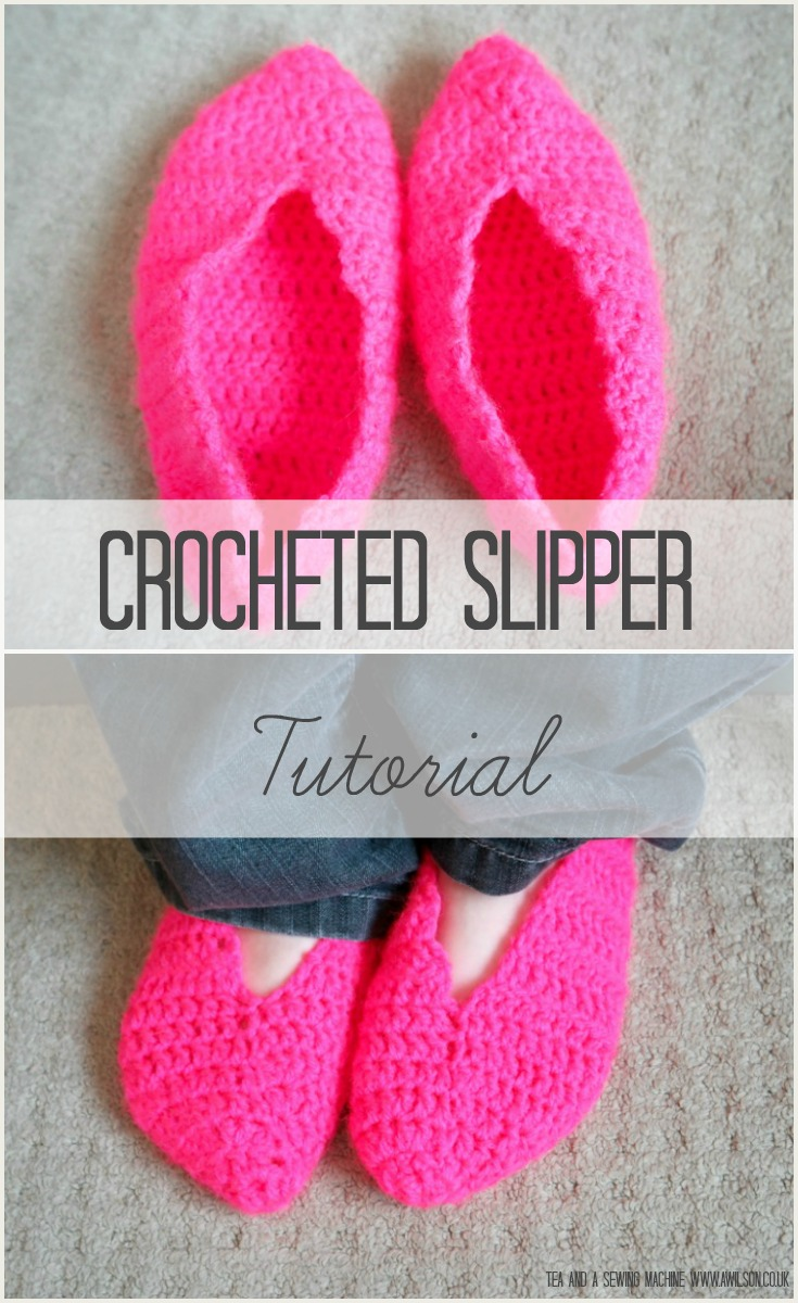 how to crocheted slippers tutorial