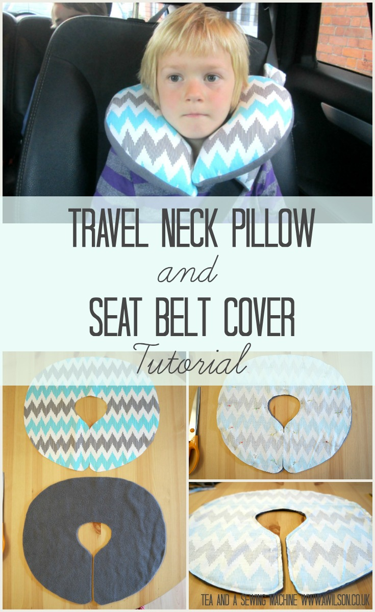 Easy to make child's travel pillow andseat belt cover tutorial. Very simple and doable in an evening!