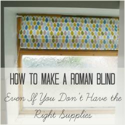 roman blind square